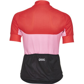 POC Essential Road Fietsshirt korte mouwen Dames roze/rood